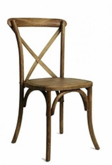 Factory Direct Pecan X Back Chair   Free Cushion Larger Photo Email A Friend